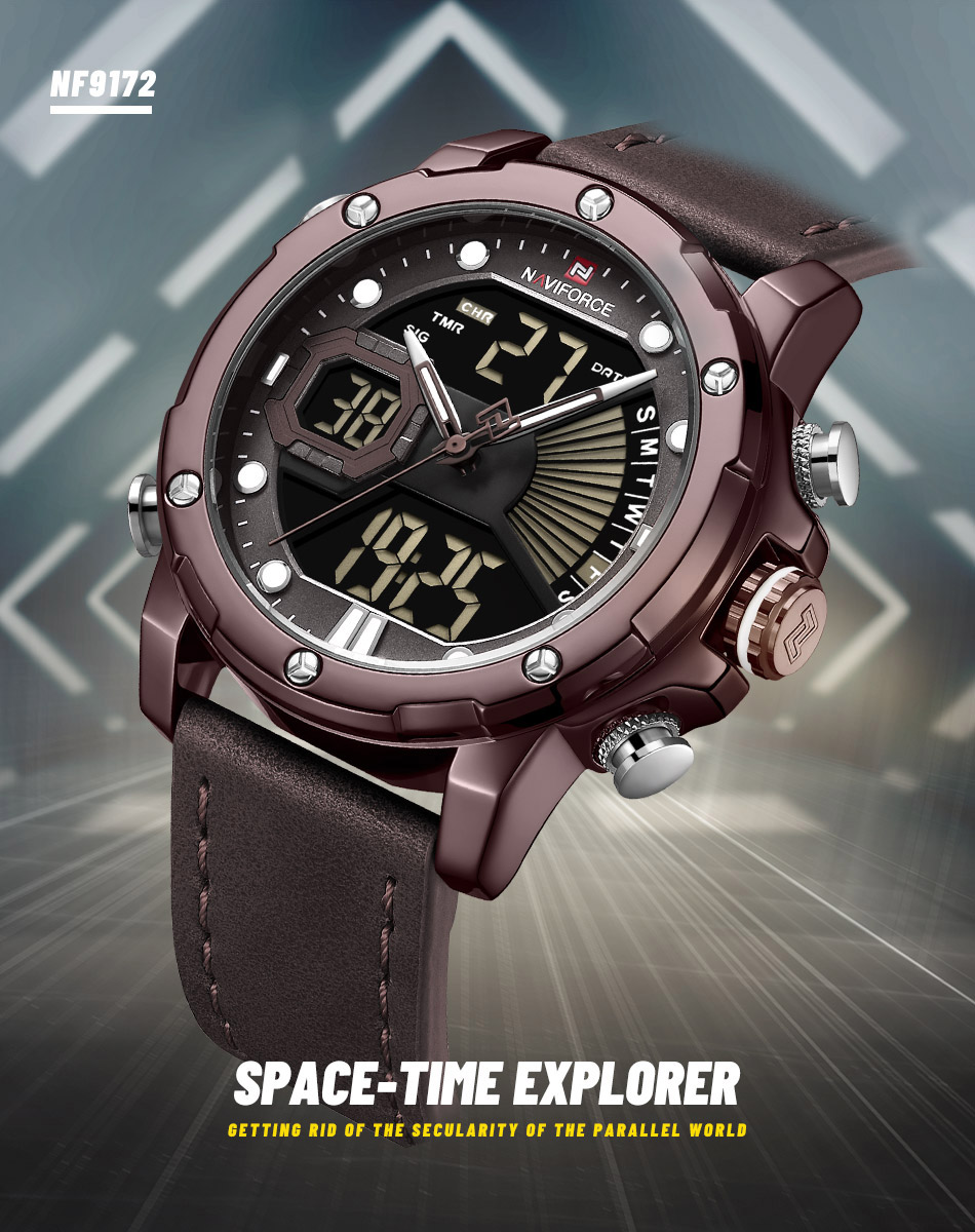 NAVIFORCE NF 9172 Military Dual-Time Watch 6