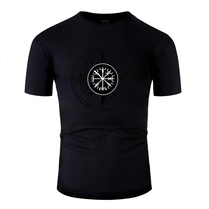 Newest Natural Viking Compass Vegvisir Runes White Tshirt Women O-Neck Tee Shirt Man Streetwear Size Xxxl 4xl 5xl Hiphop Top