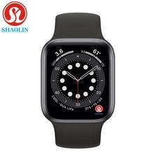 SHAOLIN Original Smart Uhr Serie 6 Bluetooth SmartWatch fall für apple uhr iPhone Android Smart telefon uhr (Rot Taste)