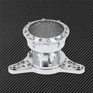 Image 2 - Motorrad CNC Geschwindigkeit Stapel Luft Reiniger Intake Filter Chrom Aluminium Passend Für Harley Sportster Eisen XL883 XL1200 Benutzerdefinierte