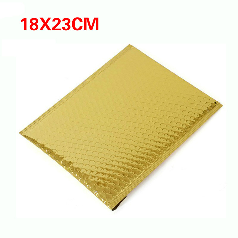 50pc 18*23cm Packaging Shipping Bubble Mailers Gold Paper Padded Envelopes Bag Bubble Mailing Envelope Bag Gift Wrapping Storage