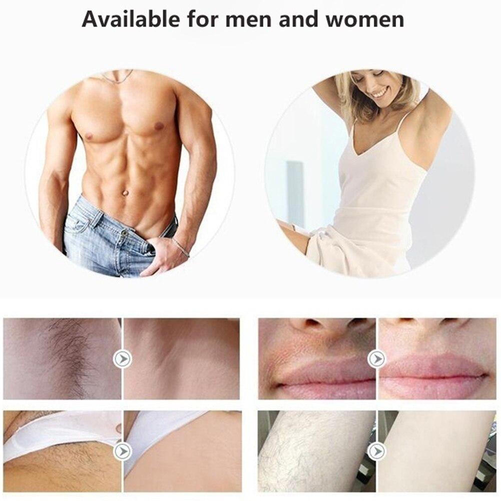 Dispositivo permanente portátil da remoção do cabelo senhoras rosto corpo depilador trimmer confortavelmente fácil de usar sem qualquer dor melhorar os poros - 5