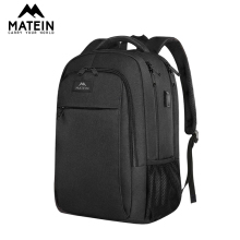 Matein anti-theft fashion men backpack with USB charger 15.6inch laptop female backpack mochila school bags for teenage girls