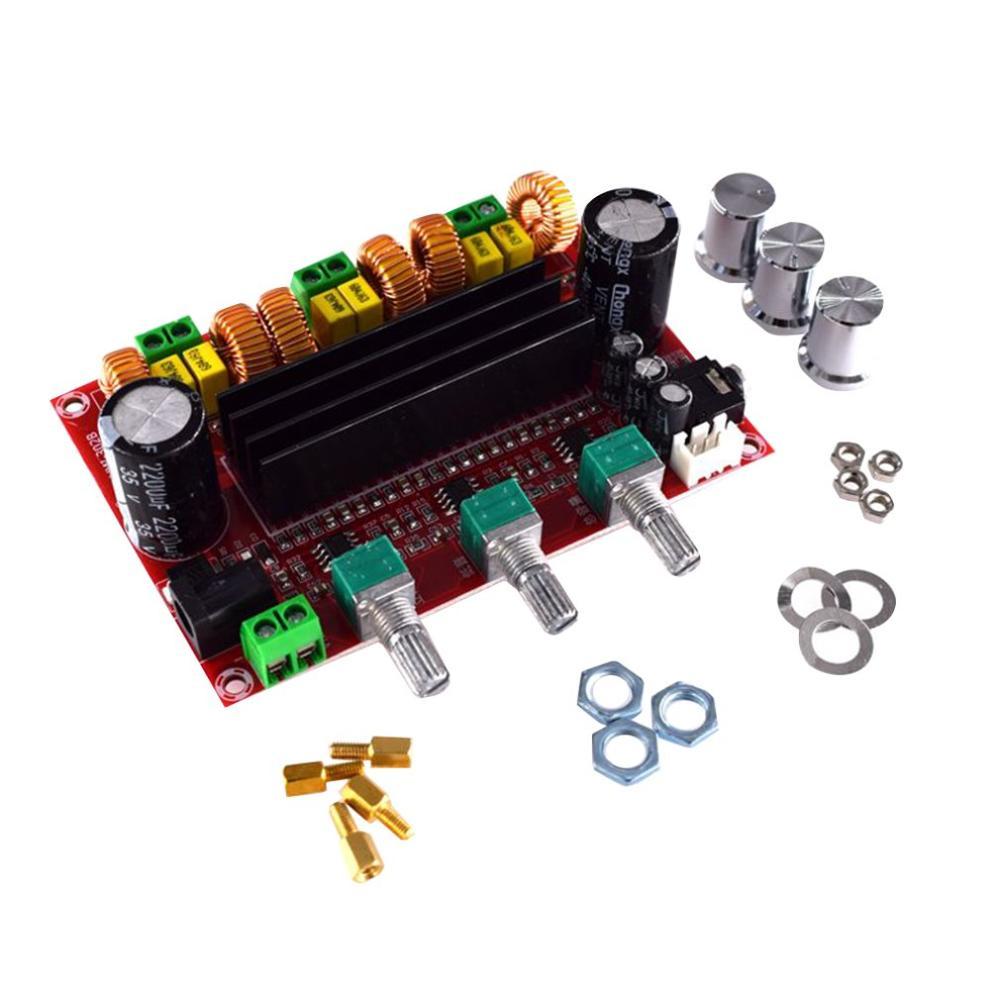 2 1 Digital Audio Power Amplifier Board 2   80W   100W TPA3116D2 Subwoofer Amplifiers DC12-26V amplificador module