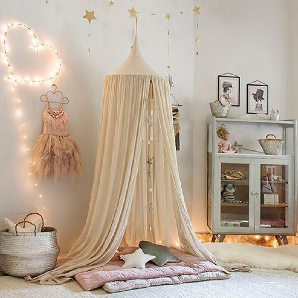 Hanging Baby Bed Mosquito Net Curtain Tent Baby Crib Netting Round Hung Kids Canopy Tent Children Room Decor Curtain Tent