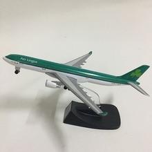 JASON TUTU 14cm Aer Lingus Airbus A330 Plane Model Airplane Model Aircraft Model 1:400 Diecast Metal planes toy