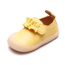 COZULMA New Autumn Baby Girls First Walkers Soft Bottom Shoes for Princess Non-Slip Leather