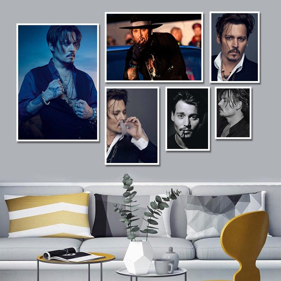 جاك سبارو الممثل جوني ديب المشارك صورة صورة الفن اللوحة جدار ديكور قماش  يطبع ديكور المنزل اللوحة الجدار ملصق