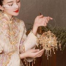 Himstory роскошный китайский стиль древняя золотая металлическая