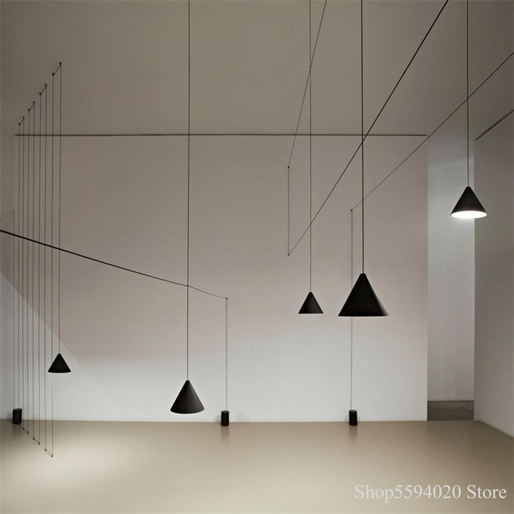 Nordic Long Line Lustres Pendent Lights Living Room Light Bedroom Lamp Bar Home Decor Hanging Lamp Light Fixtures Dropshipped
