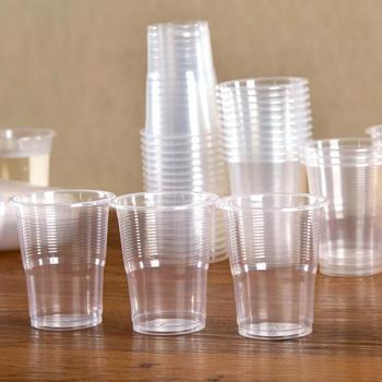 50 sztuk wyczyść plastikowe jednorazowe kubki strona kieliszki galaretki kubeczki do lodów urodziny kubki wina kawy i herbaty puchar tanie i dobre opinie CN (pochodzenie) Z tworzywa sztucznego
