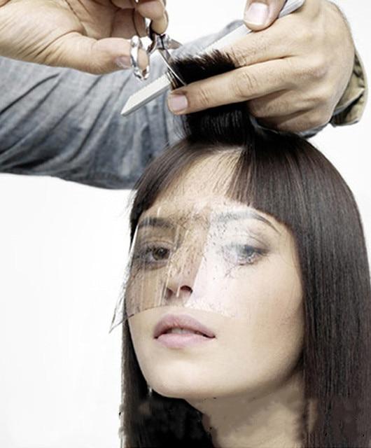 50pcs Women Supplies Disposable Face Hairspray Shield Film for Hair Salon Hair Cutting Face Protection Shield Mask