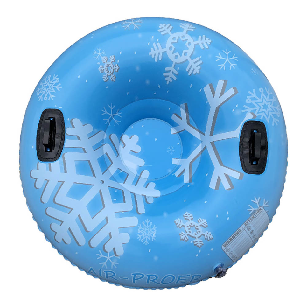 Ski Ring Snow Tube Inflatable Winter Ski Circle Floated Skiing Board Durable Outdoor Snow Tube Skiing Accessories With Handle