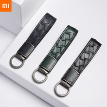 Xiaomi VLLICON Genuine Leather Braided Keychain Fashion Simple Design Weave Craft Light