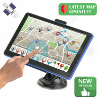 Vehemo 7 Inch for Route Planning HD GPS Navigator Car GPS Navigation GPS Navigator System Voice Broadcast Free Map FM Emission