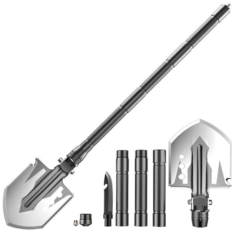 Outdoor Multi-purpose Shovel Garden Tools Folding Military Shovel Camping Portable 76cm Self Defense Security Tools Spade