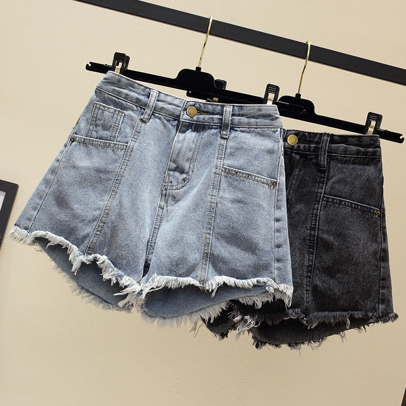Plus Size 4XL <font><b>5XL</b></font> High Waist Denim Shorts Women Summer Thin Jeans Shorts Women Streetwear Short <font><b>Femme</b></font> Ladies <font><b>Sexy</b></font> Shorts C6149 image