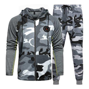 Men Sets Camouflage Casual Tracksuit 2020  4