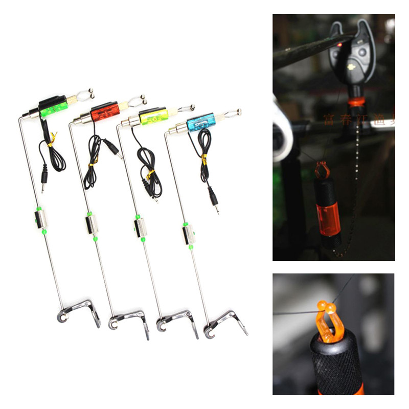Fishing Alarm Fishing Bite Hanger Fishing Bite Indicator LED Chain Indicator Fishing Swinger Fishing Tackle Tools For Bite Alarm