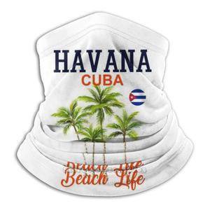 Куба Гавана пляжные жизнь в Кубинском стиле флага Карибского моря пляжа туристический подарок унисекс с шарфом теплые гетры Головные уборы маска для велоспорта Гавана Куба