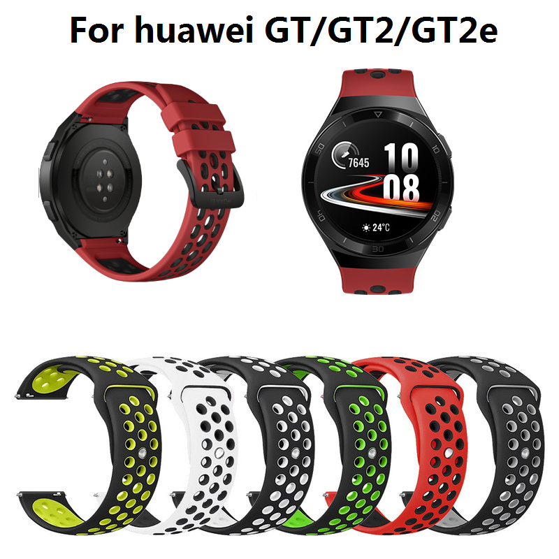 Silicone Replacement Breathable Band For Huawei Watch GT 2e Strap GT 2 46mm GT2e Strap 22mm Replacement Strap