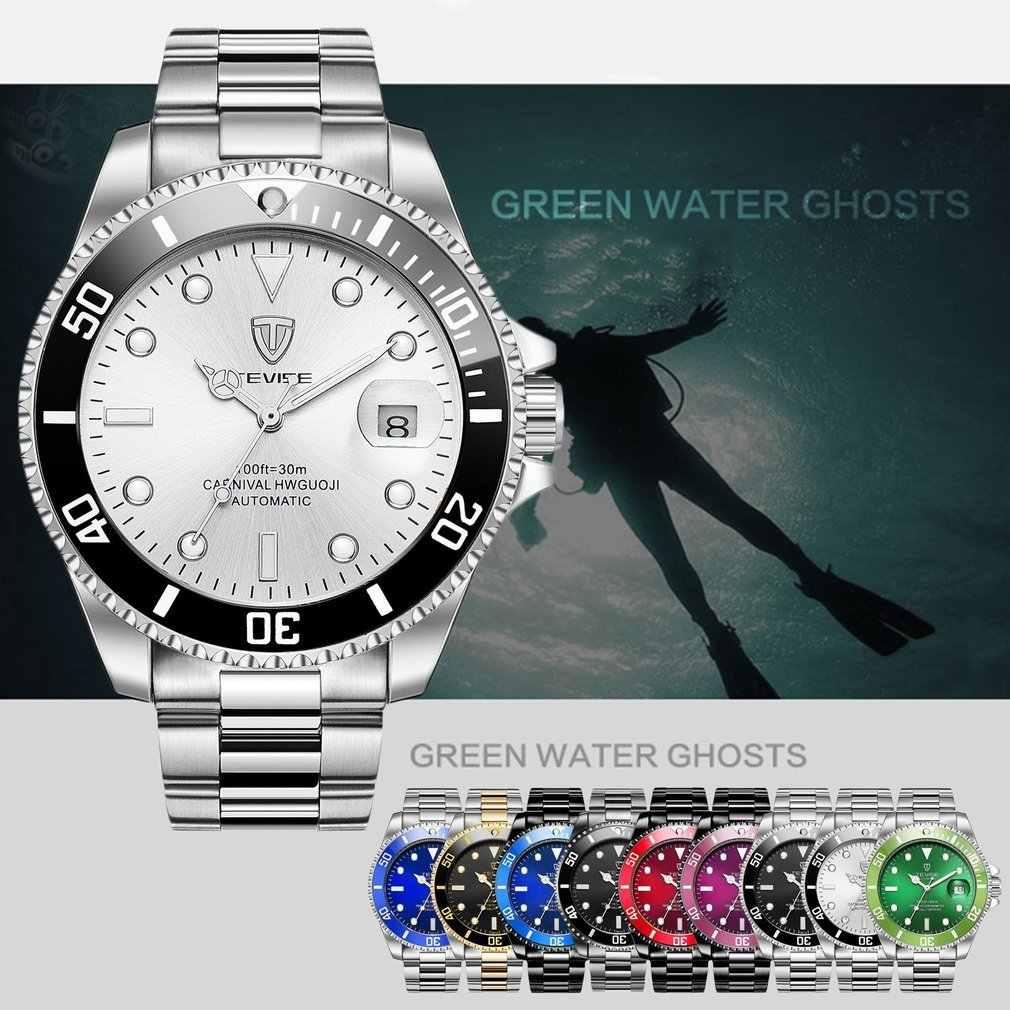 TEVISE T801 reloj mecánico automático para hombres reloj de pulsera luminoso de moda reloj de pulsera de lujo de 30M de acero diario reloj deportivo Casual para hombre 2019
