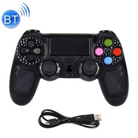 Bluetooth Wireless Game Controller Handle Double Vibration with Touch Function & Speaker & Light for PS 4