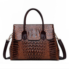 New Luxury Pu Leather Handbags Women Bags Designer Alligator Crossbody Tote Bags Female Zipper Shoulder Bags Bolsas de Mujer new 100% handmade woven leather handbags tote women shoulder bags with detachable zipper pouch