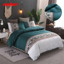 Sisher Brief Floral Printed duvet cover king size set Bedding sets Single Double Queen Simple Bedclothes Quilt Covers Beddingset(China)