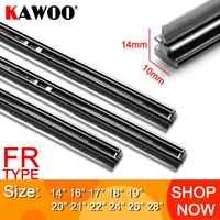 "KAWOO Auto Windscreen Car Wiper blade Strips Vehicle Insert Rubber Strip 14""16""17""18""19""20""21""22""24""26"" FR 10mm 1pcs Accessories"
