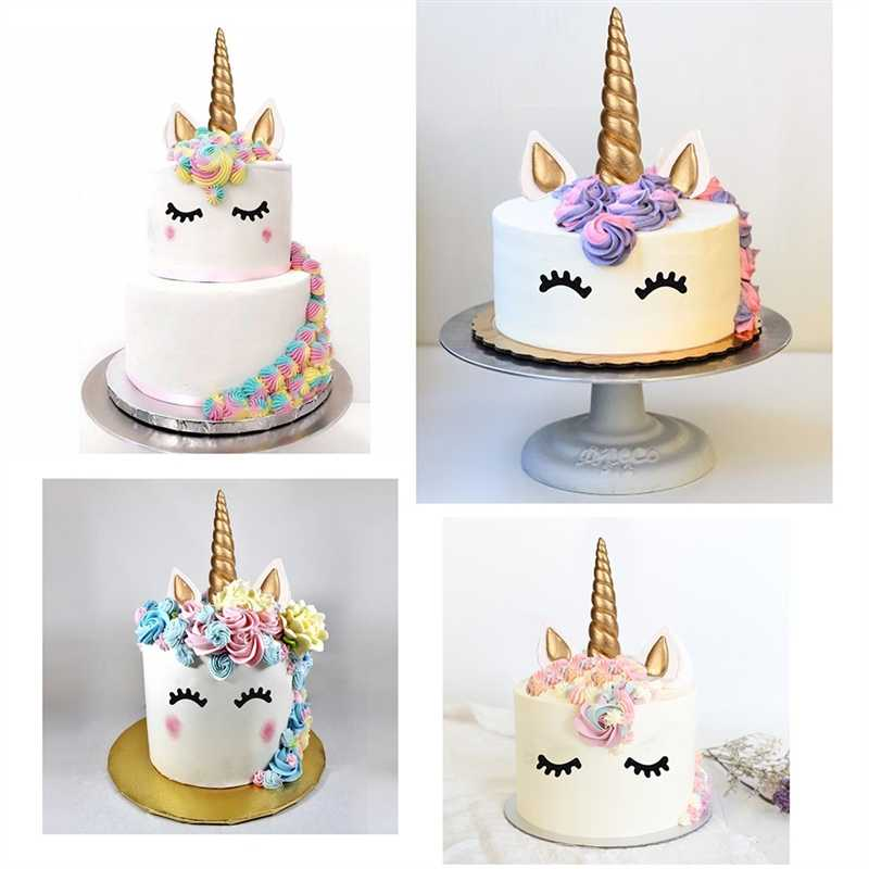 Eyelashes Unicorn Party Cake Decoration Unicorn Horns Cake Topper Kids Birthday Decorative Happy Birthday Decor