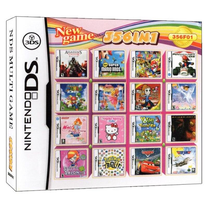 Игровая консоль с картриджем для видеокарт 356 в 1, мульти-тележка DS DSi 2DS 3DS XL, Классическая английская версия Lauguage, США, детские игрушки