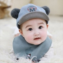Cute Baby Boy Girl Autumn Winter Home Outdoor Hat Lovely Fur Ball Soft Cotton Warm Breathable Kid Unisex