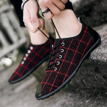 2020 nowe męskie buty letnie oddychające brezentowe buty Peas buty męskie buty obuwie buty do jazdy samochodem Trend buty do podróży tanie i dobre opinie NFUHGOIDHGI Płótno Przypadkowi buty Wiosna jesień Gumowe G131 Lace-up Paski Dla dorosłych Pasuje prawda na wymiar weź swój normalny rozmiar