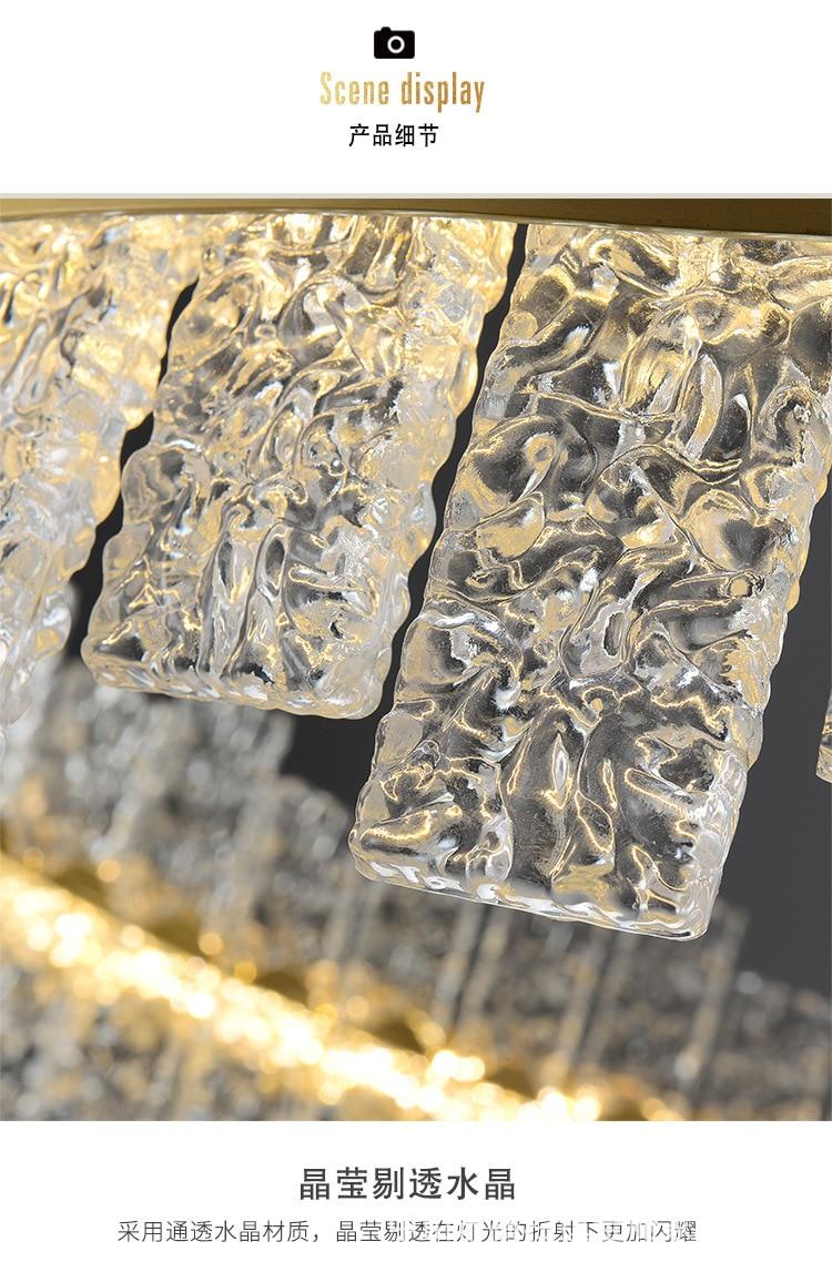 de cristal redonda moderna, criativo simples e nórdico para restaurante