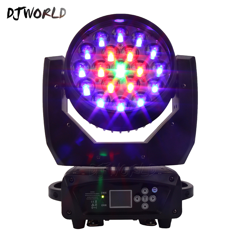 DJworld LED Beam+Wash 19x15W RGBW Zoom Lighting Moving Head Light Stage Light For DJ  Disco Light Home Entertainment Party Bar