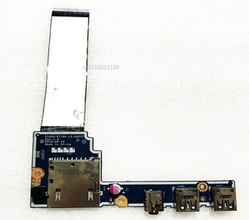 Free Shipping Original For Lenovo S400 S410 S405 S415 USB Jack Card Reader Audio Port Board W Cable LS-A321P