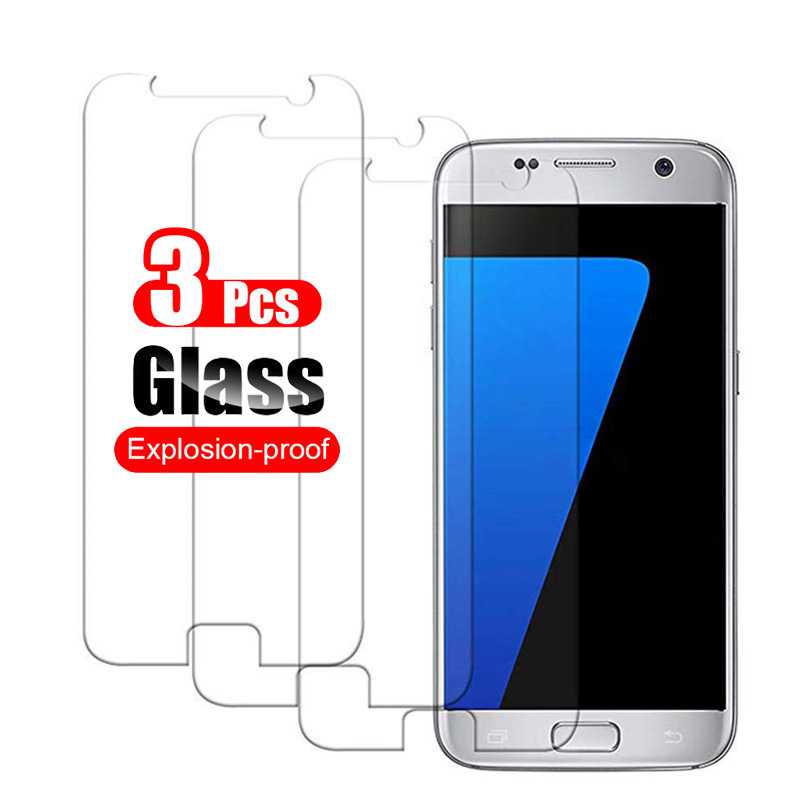 3Pcs SamsungS7 Glass for Samsung Galaxy S7 S6 S4 Protective Glass Sansung Sumsung S 7 6 4 Film Scree