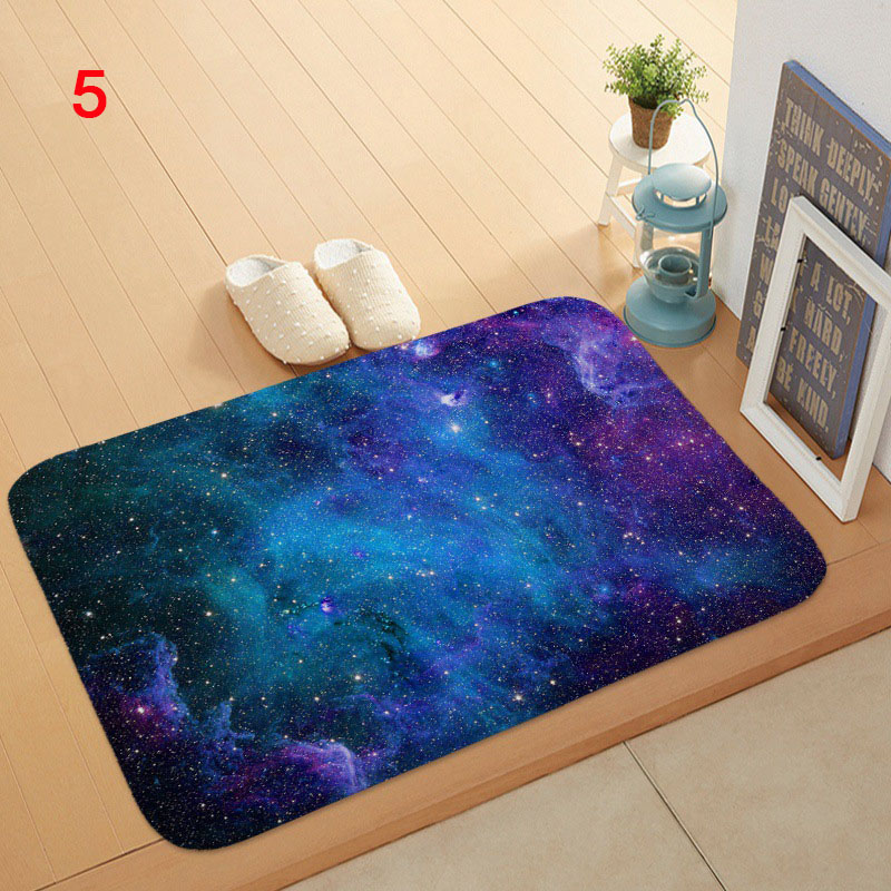 Star Sky Doormat Bath Kitchen Carpet Decorative Anti-slip Carpet Bedroom Car Floor Bar Carpets 40*60cm Cocina Alfombra Tapete HQ