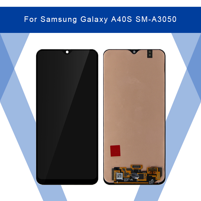For <font><b>Samsung</b></font> Galaxy <font><b>A40S</b></font> SM-A3050 <font><b>LCD</b></font> AMOLED Display Screen+Touch Panel Digitizer Assembly For <font><b>SAMSUNG</b></font> Display Original image
