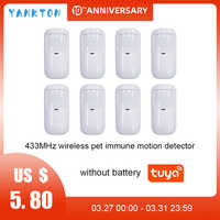 Tuya 433mhz Smart Wireless Wifi PIR Motion Detektor Alarm Sensor Infrarot Sensor Für Home Alarm System Host Pet- immun detektor