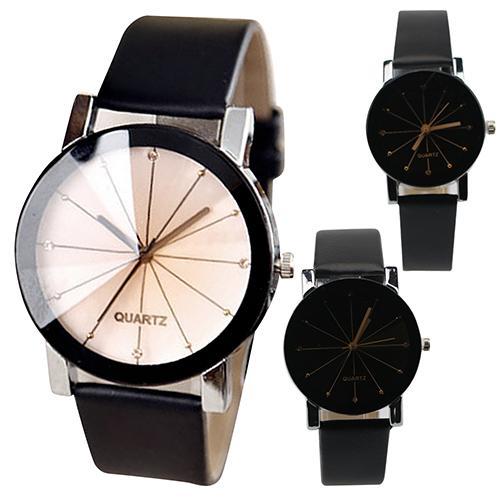 Women's Watches Couple Watch Men Fashion Alloy Faux Leather Watches Quartz Clock Sports Dress Wrist Watch Reloj Mujer 2019 Hot