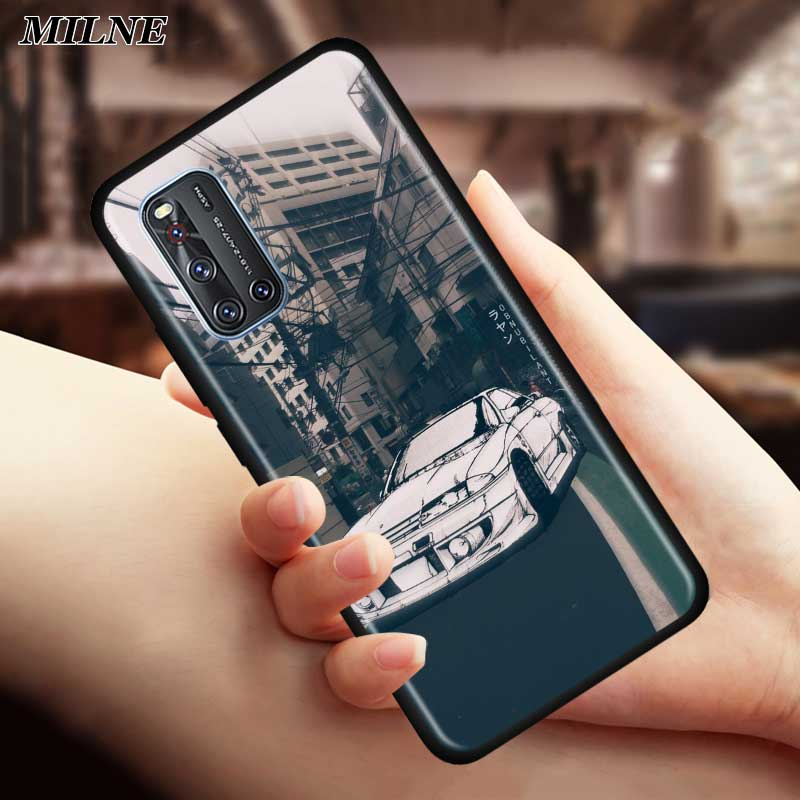 INITIAL D AE86 DIY Silicone Phone Case For Vivo S1 Pro Y12 Y15 Pro Y17 Y19 Z6 5G Y30 Y50 V19 Iqoo 3 5G Z1 Soft Back Cover Couqe