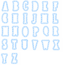 Plastic Stencils A-Z Alphabets 26 Letters For DIY Scrapbooking Album Decoration New 2019 Embossed Crafts Cards
