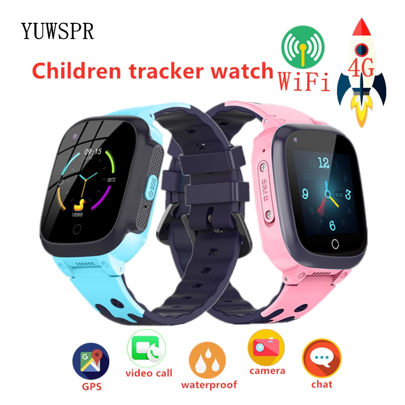 Kids Watches GPS Tracker Smart Watch 4G WIFI Tracking Video Call Waterproof SOS Children Watch Tracker Boy Girl Smart Clock T8