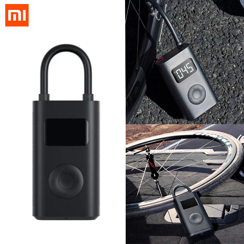 Xiaomi Mijia Portable Inflator Pump Smart Digital Tire Pressure Detection LED Inflator Electric Pump For Bicycle Car Football image