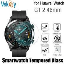 VSKEY 100 قطعة الزجاج المقسى لهواوي ساعة GT 2 46 مللي متر حامي الشاشة مستديرة الرياضة Smartwatch D38.5mm فيلم واقية