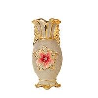 Европейская позолоченная фарфоровая ваза, винтажная Современная керамическая ваза для цветов, для комнаты, кабинета, прихожей, домашнего с...