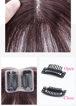 Halo Lady Beauty Clip In Bangs Human Hair Air Bang Brazilian Hair Pieces Invisible Seamless Non-remy Replacement Hair Wig 3