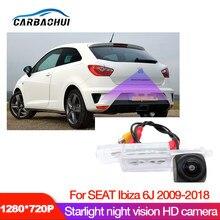Автомобильная hd камера заднего вида для SEAT Ibiza 6J 2009 2010 2012 2014 2016 2018 CCD камера ночного видения номерного знака камера заднего вида